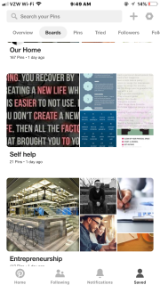 This is what your boards look like on your profile