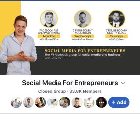 facebook group for social media for entrepreneurs